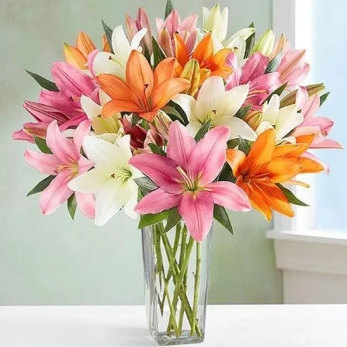 10 steams of multi color Lilly bouquet