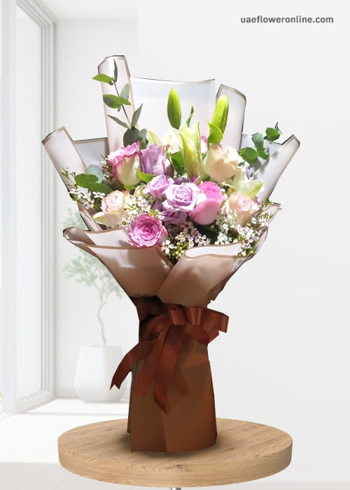 Elegance Rose and Lily Bouquet