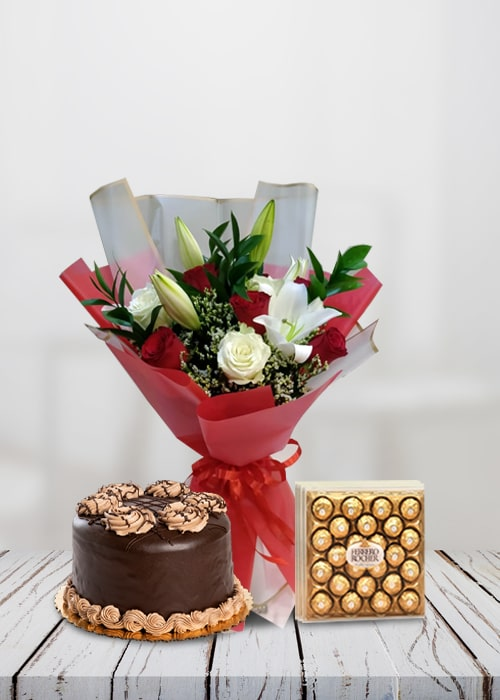 Romantic Wishes with cake combo