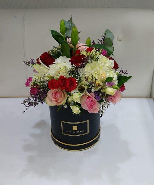 Spectacular mix flower box arrangement