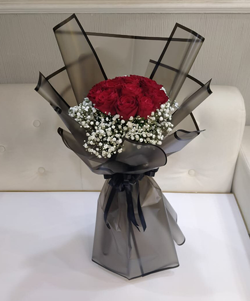 Vivid 25 Red Roses Bouquet