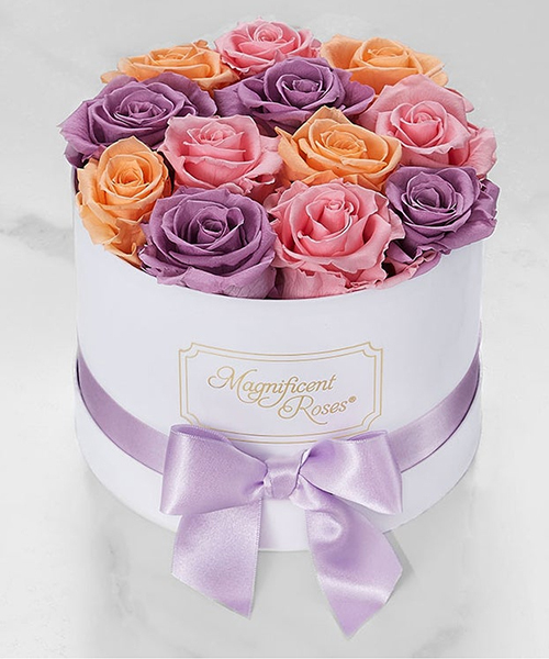 Adorable mix roses flower box