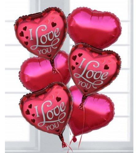 6 I Love you Balloons