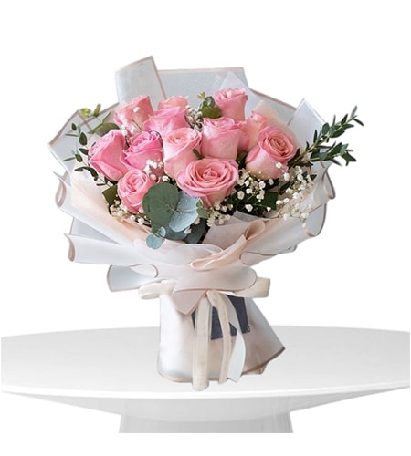 Sweet Pink Roses Bouquet