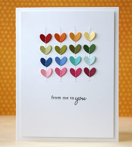 Valentine and love card