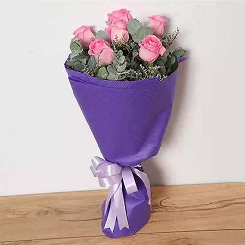 Bouquet Of Pink Roses Standard