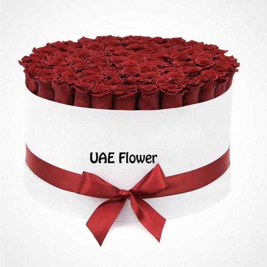 Delicate red roses box