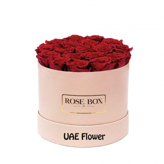 Gorgeous red roses box