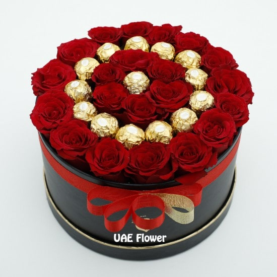 Lovely Roses with Chocolate box