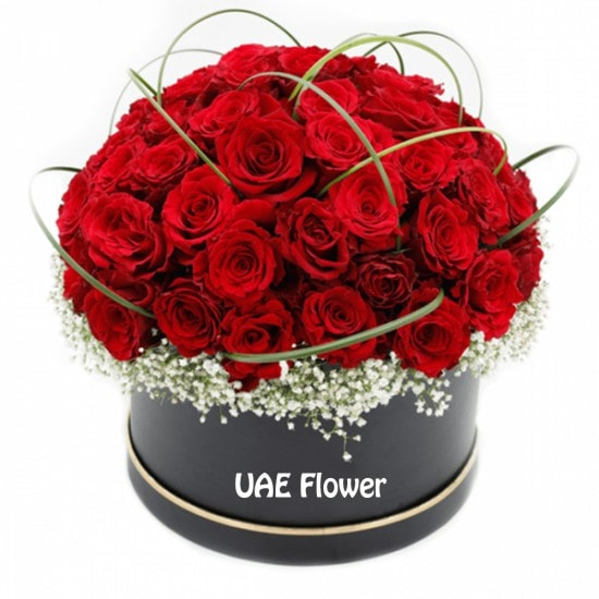Magnificent red rose flower box